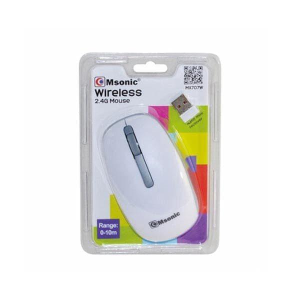 Ποντίκι MX707W 2.4Ghz ασύρματο με USB nano receiver άσπρο Msonic