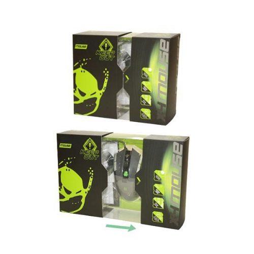 Ποντίκι-X9PRO-BUDDLE-wTshirt-Gaming-KEEP-OUT-USB-Black-11-Keys-8200dpi-1