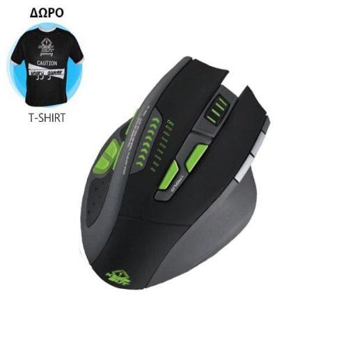 Ποντίκι X9PRO BUDDLE w/Tshirt Gaming KEEP OUT USB Black 11 Keys 8200dpi