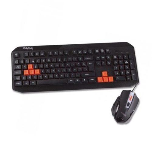 Σετ Πληκτρολόγιο-Ποντίκι 8 Gaming Keys Usb Black w/Red