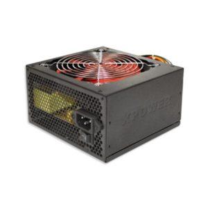 """Τροφοδοτικό 500w 12""""red fan Xpower ATX PFC Pas. Black"""