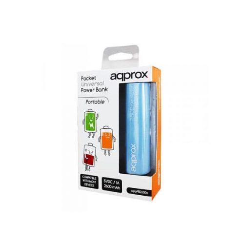 Φορητός-Φορτιστής-Approx-PB26EVLB-2600mA-Power-Bank-μπλε-1