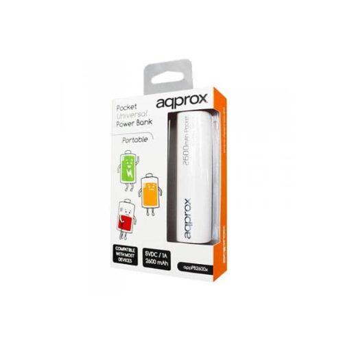 Φορητός-Φορτιστής-Approx-PB26EVW-2600mA-Power-Bank-λευκό-1
