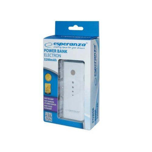 Φορητός Φορτιστής EMP104WE 5200mA Power Bank άσπρο/γκρι
