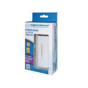 Φορητός Φορτιστής EMP105W 4400mA Power Bank άσπρο