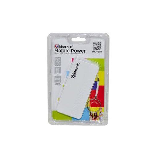 Φορητός-Φορτιστής-Msonic-5000mA-Power-Bank-άσπρο-1
