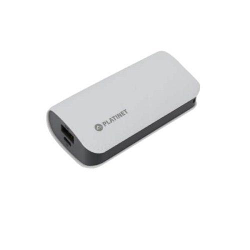 Φορητός Φορτιστής Platinet δερμάτινος 5200mA micro USB καλώδιο Power Bank γκρι PMPB52LG