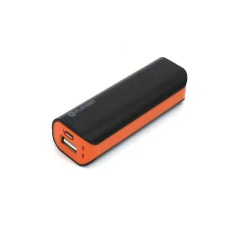 Φορητός Φορτιστής Platinet 2200mA micro USB καλώδιο Power Bank μαύρο/γκρι