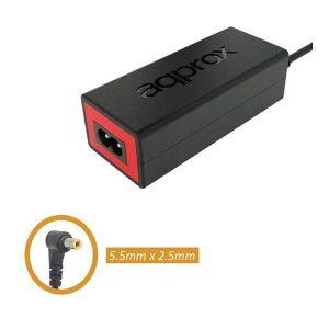 Φορτιστής για Laptop 65w APPA09 19V/3.42A 5.5 χ 2.5mm Approx