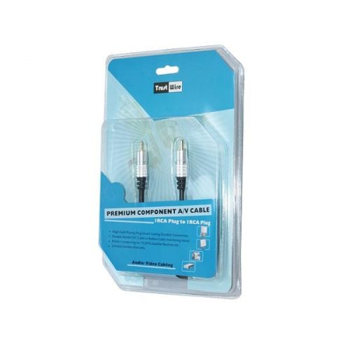 1.5M Hq 1RCA Plug To 1RCA Gold Premium blister pack