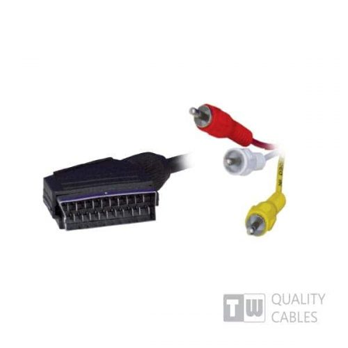 3M 3RCA To Scart Cable - Ccs