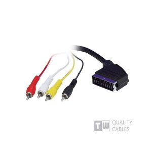 3M Scart To 4RCA Cable - Ccs