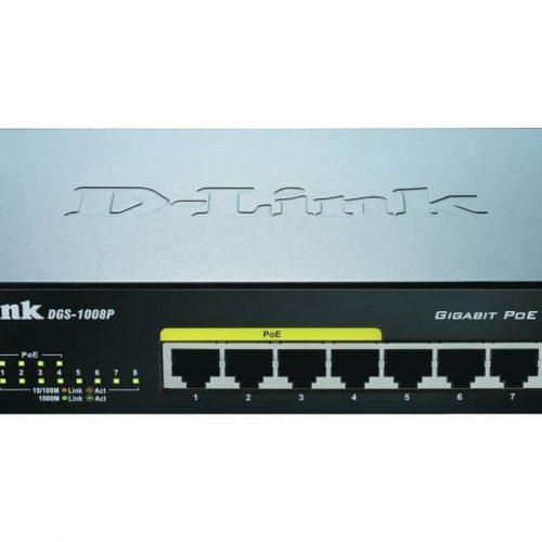 DLINK SWITCH DGS-1008P 8-port 10/100/1000Mbps 4 PoE Ports