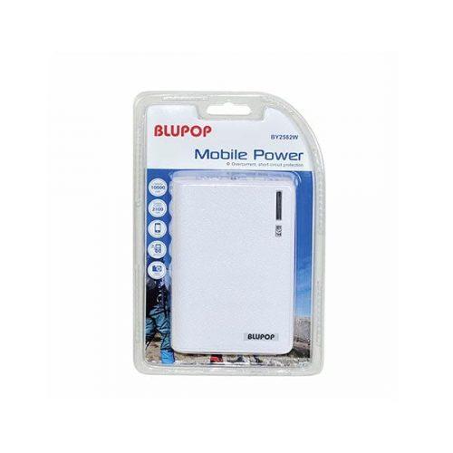 Blupop Φορητός Φορτιστής 10000mA Power Bank άσπρο BY2582W