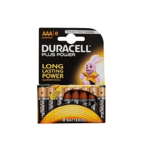 DURACELL PLUS POWER ALC AAA 8τεμ. LR03 Αλκαλική Μπαταρία