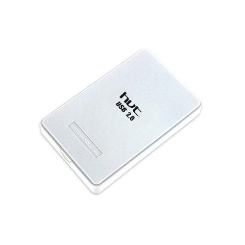 Enclosure άσπρο μη βιδωτό HD202R USB2.0 2,5 SATA hvt
