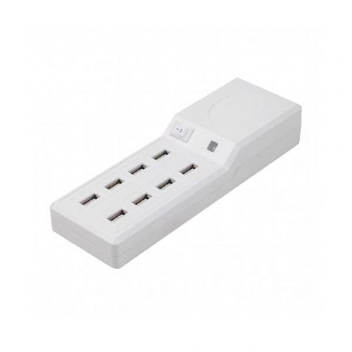 Family Charger Platinet 8-Port USB 10A άσπρο