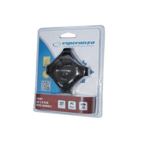 STAR 4-PORT HUB USB 2.0 EA150K BLACK