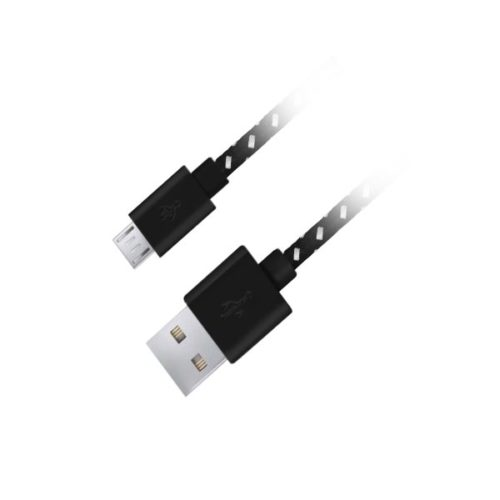 Καλώδιο φόρτισης 1m Fabric braided Micro USB 2.0 μαύρο EB175KY