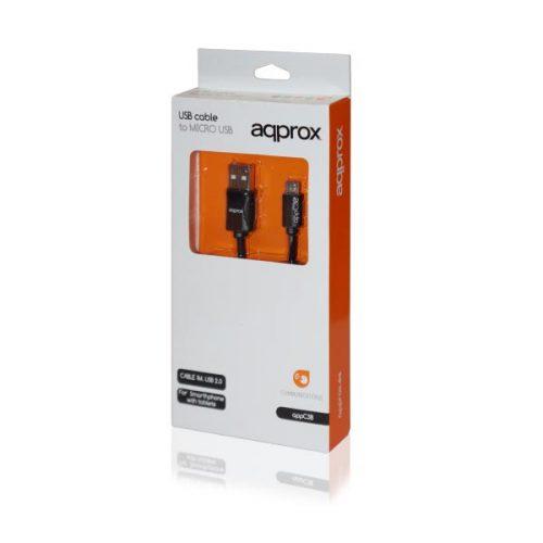 Καλώδιο-USB-σε-Micro-USB-APPC38-για-smartphone-μαύρο-1m-Approx-1