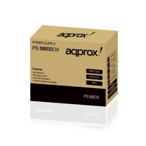 Τροφοδοτικό-500W-black-ATX-12cm-Passive-PFC-Approx-APP500LITEB01-Brown-Box-1