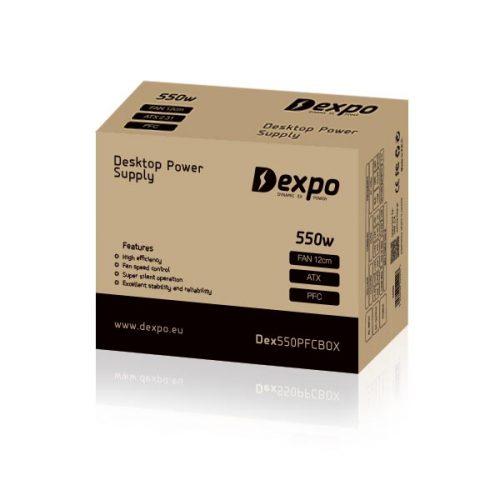 Τροφοδοτικό-550w-Dexpo-12cm-red-fan-Brown-Box-1
