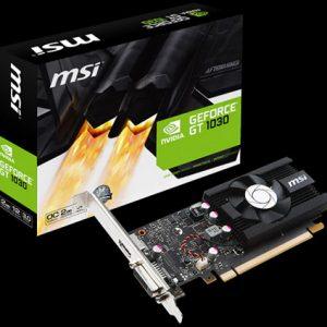 ΚΑΡΤΑ ΓΡΑΦΙΚΩΝ MSI NVIDIA GF GT 1030 2G LP OC, 2GB64BIT