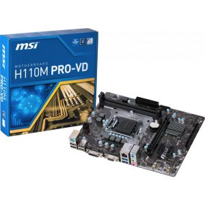 ΜΗΤΡΙΚΗ MSI H110M PRO-VD, SOCKET LGA1151, VGADVI-D, MICRO-ATX