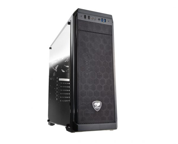 CC-COUGAR Case MX330-G Middle ATX Black Tempered Glass USB 3.0 140 08 CCMX330G 1
