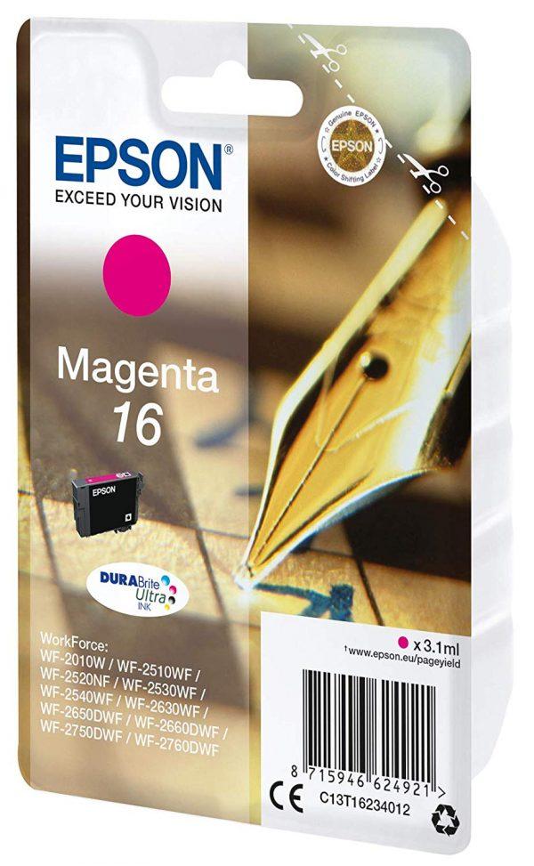 EPSON Cartridge Magenta DuraBright Ultra 16 C13T16234012 C13T16234012 1