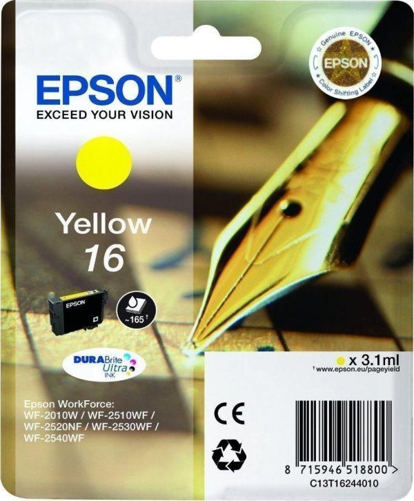 EPSON Cartridge Yellow DuraBright Ultra 16 C13T16244012 C13T16244012 1