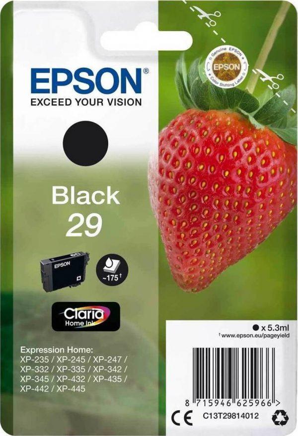EPSON Cartridge Black C13T29814012 C13T29814012 1