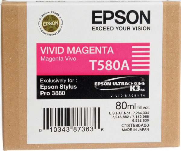 EPSON Cartridge Magenta C13T580A00 C13T580A00 1