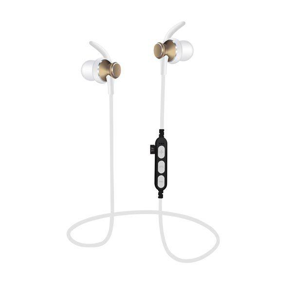 Ακουστικό Bluetooth V4.2 με μικρόφωνο και microSD Χρυσό PLATINET