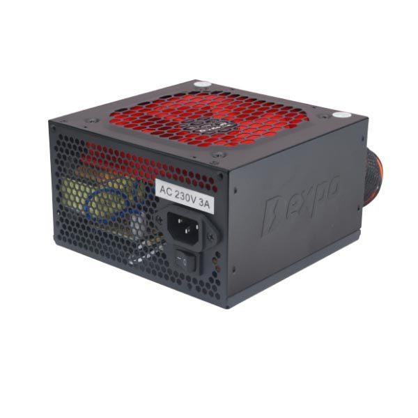 Τροφοδοτικό 650w 2xPci express Dexpo 12cm red fan Black