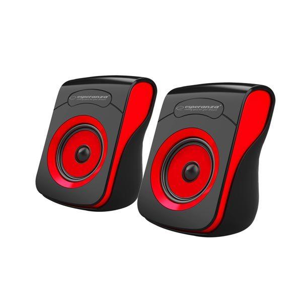 Ηχείο 2.0 USB Μαύρο/Κόκκινο EP140KR