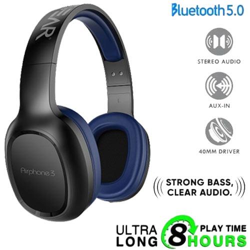 SONIC GEAR BLUETOOTH 5.0 HEADSET (2019) AIRPHONE 3 B.BLUE