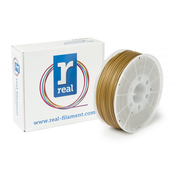 REAL ABS 3D Printer Filament - Gold - spool of 1Kg - 1.75mm (REFABSGOLD1000MM175) 0003744 real abs gold spool of 1kg 175mm 0 1