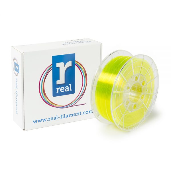 REAL PETG 3D Printer Filament - Translucent Yellow - spool of 1Kg - 1.75mm (REFPETGYELLOW1000MM175) 0003794 real petg translucent yellow spool of 1kg 175mm 0 1