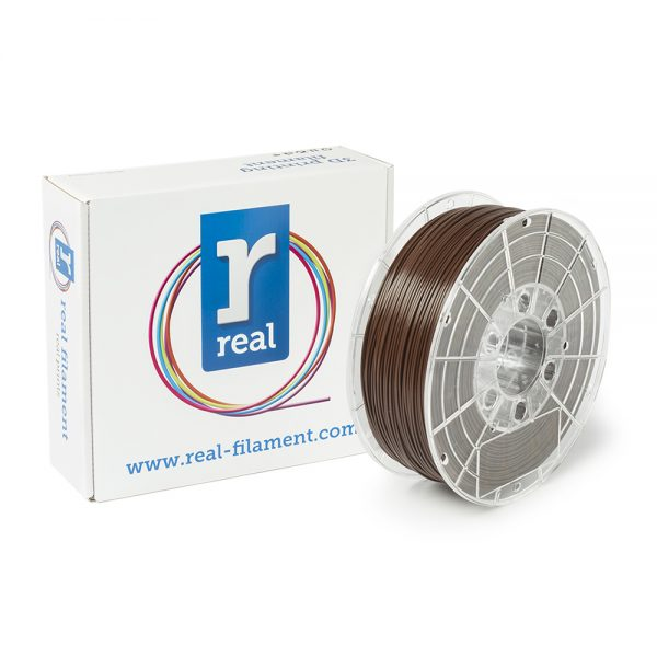 REAL PLA 3D Printer Filament - Brown - spool of 1Kg - 1.75mm (REFPLABROWN1000MM175) 0003803 real pla brown spool of 1kg 175mm 0 1