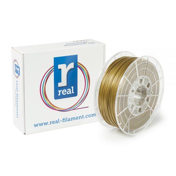 REAL PLA 3D Printer Filament - Gold - spool of 0.5Kg - 1.75mm (REFPLAGOLD500MM175) 0003944 real pla gold spool of 05kg 175mm 0 1