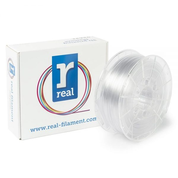 REAL PETG 3D Printer Filament - Neutral - spool of 1Kg - 2.85mm (REFPETGNEUTRAL1000MM3) 0003961 real petg neutral spool of 1kg 285mm 0 1