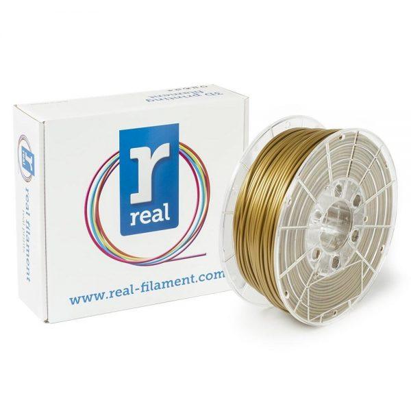 REAL PLA 3D Printer Filament - Gold - spool of 0.5Kg - 2.85mm (REFPLAGOLD500MM3) 0003979 real pla gold spool of 05kg 285mm 0 1