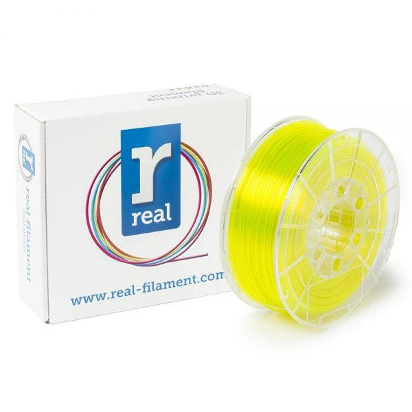 REAL PETG 3D Printer Filament - Translucent Yellow - spool of 0.5Kg - 2.85mm (REFPETGTYELLOW500MM285) 0003981 real petg translucent yellow spool of 05kg 285mm 0 1
