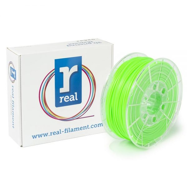 REAL PLA 3D Printer Filament - Fluorescent Green - spool of 1Kg - 2.85mm (REFPLAFGREEN1000MM3) 0003997 real pla fluorescent green spool of 1kg 285mm 0 1