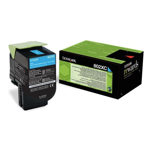 Toner Lexmark 80C2XC0 Cyan (80C2XC0) (LEX80C2XC0) 0004454 toner lexmark 80c2xc0 cyan 1
