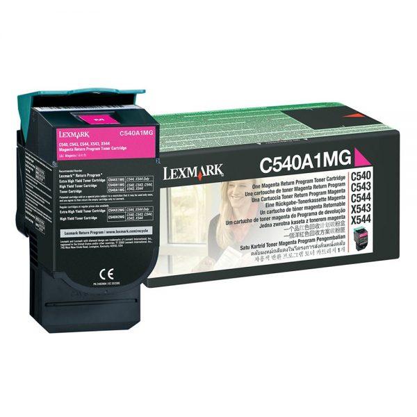 LEXMARK C54x/X543 SC MAGENTA TNR (1k) (C540A1M) (LEXC540A1M) 0004480 lexmark c54xx543 sc magenta tnr 1k c540a1m 0 1