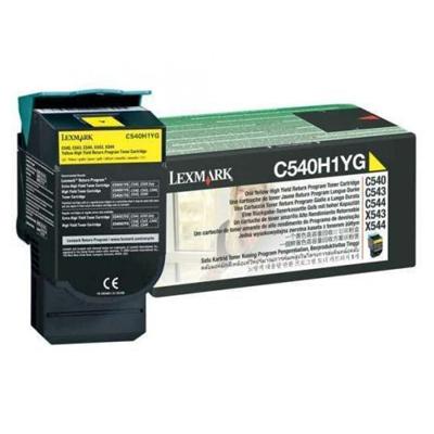 LEXMARK C54x/X543 HC YELLOW TNR (2k) (C540H1Y) (LEXC540H1Y) 0004485 lexmark c54xx543 hc yellow tnr 2k c540h1y 0 1