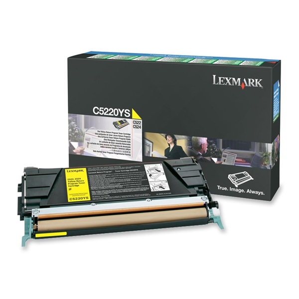 LEXMARK C522/524/530 YELLOW TONER (3K) (C5220YS) (LEXC5220YS) 0009997 lexmark c522524530 yellow toner 3k c5220ys 0 1