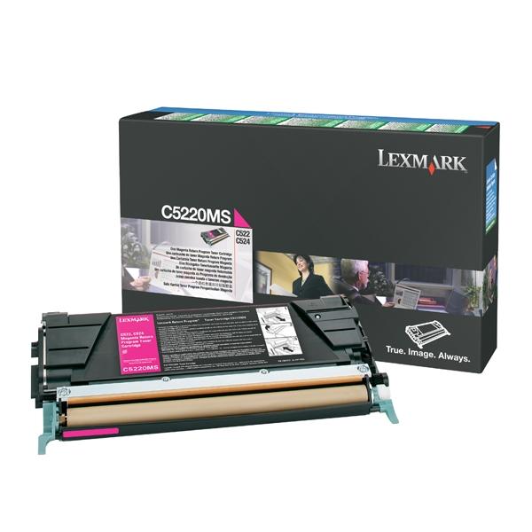 LEXMARK C522/524/530 MAGENTA TONER (3K) (C5220MS) (LEXC5220MS) 0009998 lexmark c522524530 magenta toner 3k c5220ms 0 1
